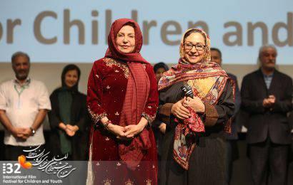 گزارش تصویری / مراسم تجلیل از مریم سعادت و مهین جواهریان در سی و دومین جشنواره بین المللی فیلم های کودکان و نوجوانان