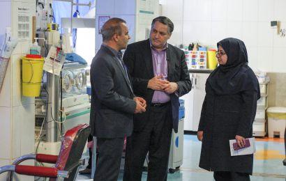 گزارش تصویری/ بازدید علیرضا تابش دبیر جشنواره از بیمارستان امام حسین (ع)