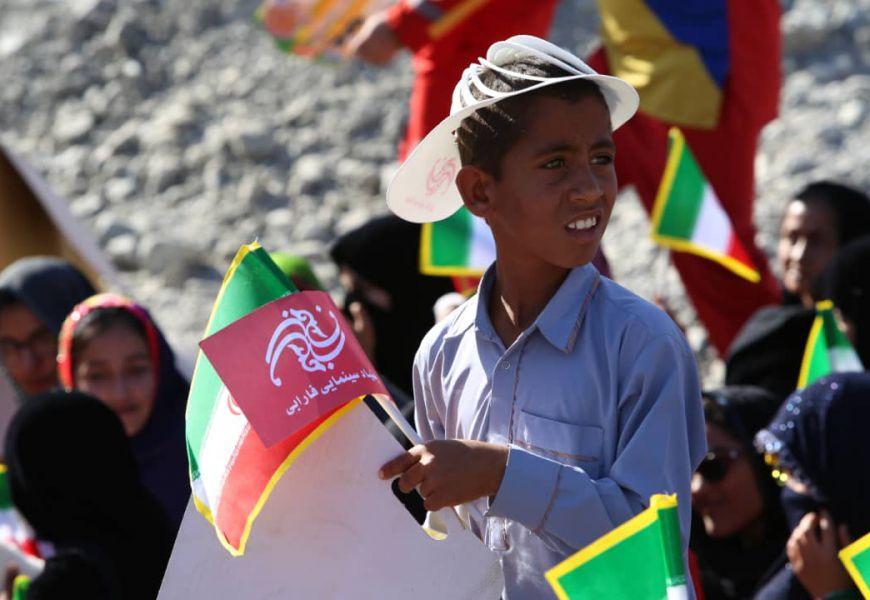 گزارش تصویری/ کاروان «بچههای آفتاب» در روستای بلپیر، از توابع شهرستان نیکشهر، 17 بهمن 98